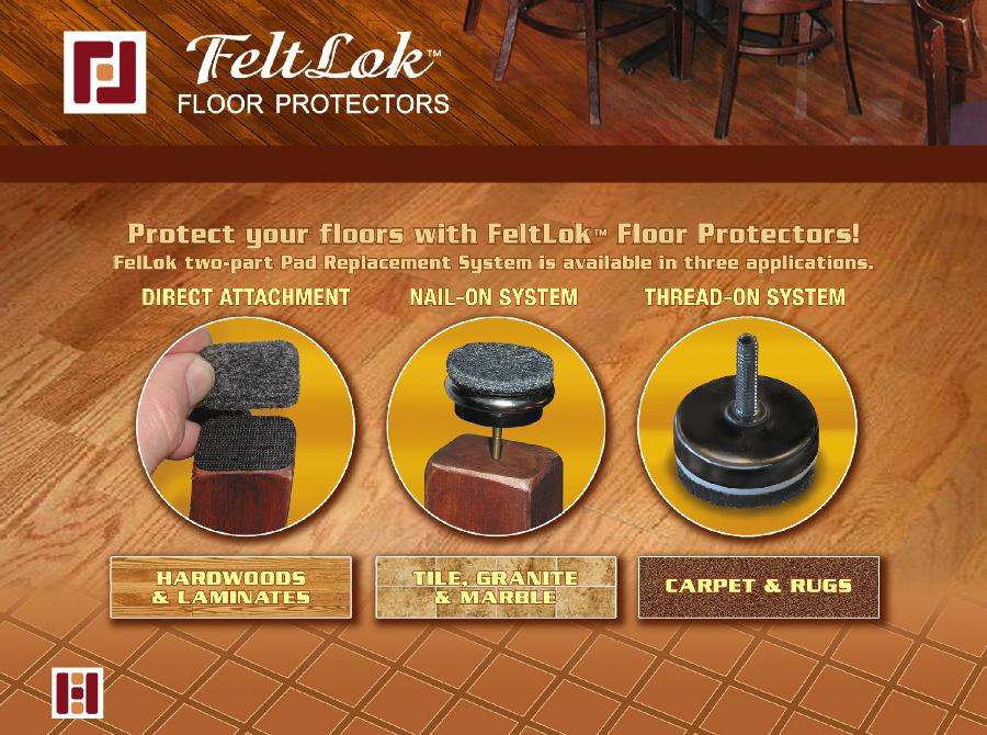 MasterBkg. FeltLok Floor Protectors FeltLock